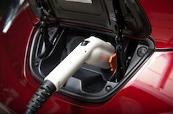 a Nissan leaf ev charging